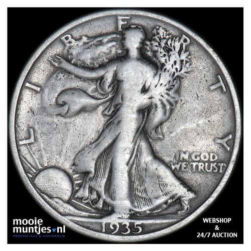 half dollar - walking liberty - United States of America 1935 S (KM 142) (kant A