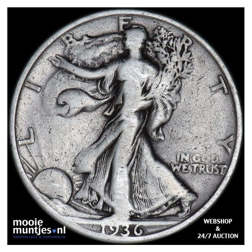half dollar - walking liberty - United States of America 1936 S (KM 142) (kant A