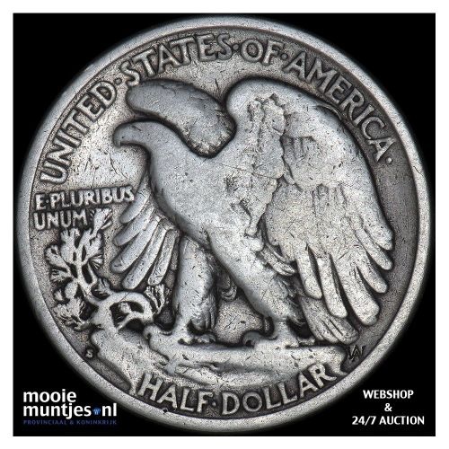 half dollar - walking liberty - United States of America 1936 S (KM 142) (kant B