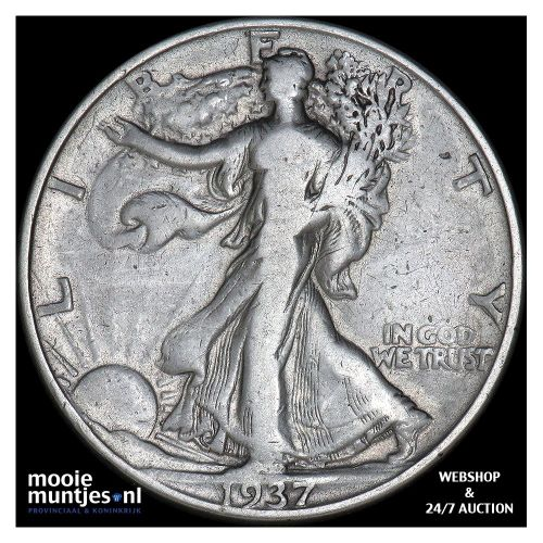 half dollar - walking liberty - United States of America 1937 (KM 142) (kant A)
