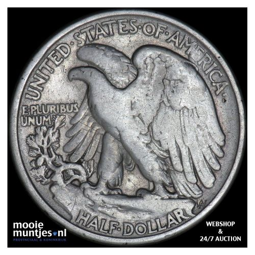 half dollar - walking liberty - United States of America 1937 (KM 142) (kant B)