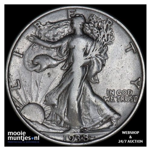 half dollar - walking liberty - United States of America 1938 (KM 142) (kant A)