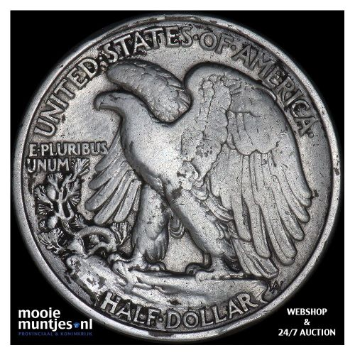half dollar - walking liberty - United States of America 1938 (KM 142) (kant B)