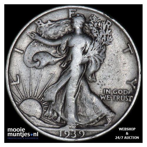 half dollar - walking liberty - United States of America 1939 S (KM 142) (kant A