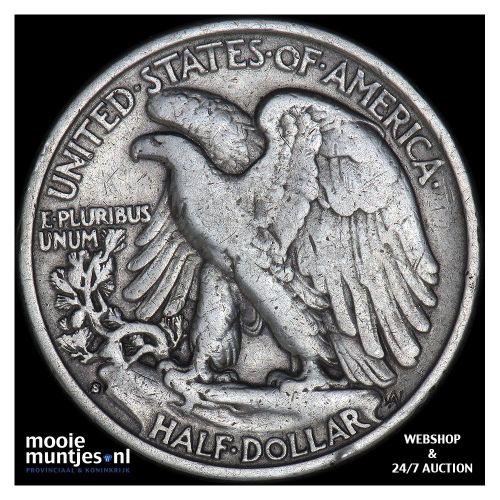 half dollar - walking liberty - United States of America 1939 S (KM 142) (kant B