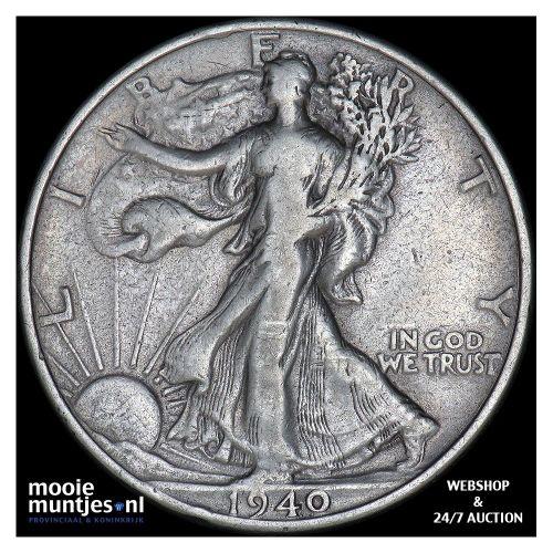 half dollar - walking liberty - United States of America 1940 (KM 142) (kant A)