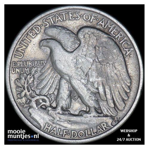 half dollar - walking liberty - United States of America 1940 (KM 142) (kant B)
