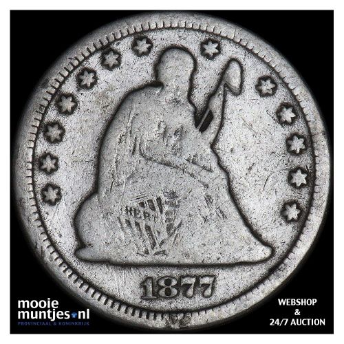 quarter - seated liberty - United States of America/Circulation coinage 1877 (KM