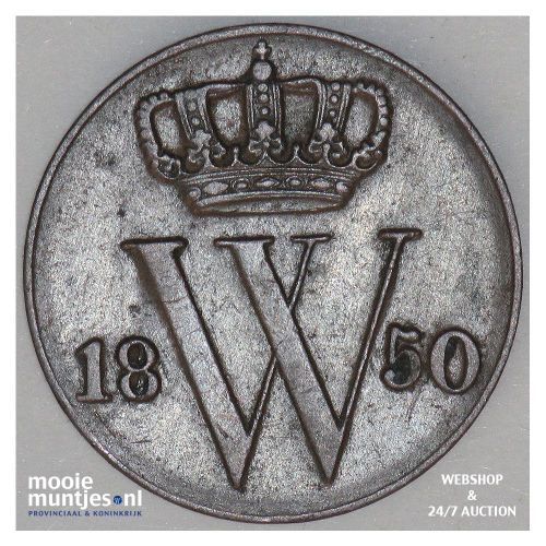 ½ cent - Willem III - 1850 (kant A)