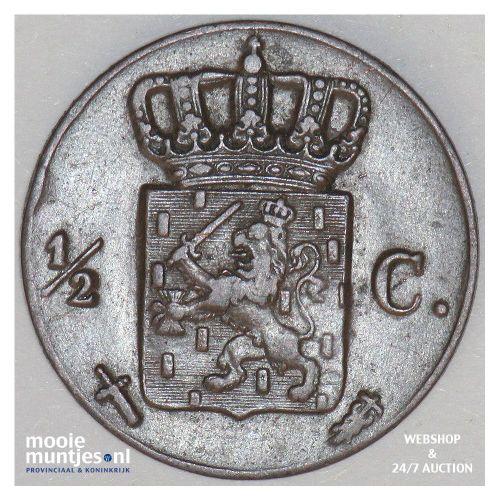 ½ cent - Willem III - 1850 (kant B)