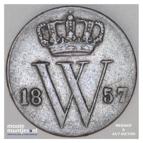 ½ cent - Willem III - 1857 (kant A)