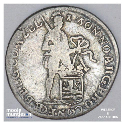 Zeeland - Achtste dukaat of Pietje - 1781 (kant B)