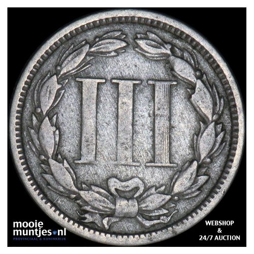 nickel 3 cents - United States of America/Circulation coinage 1865 (KM 95) (kant