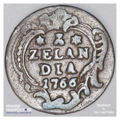 Zeeland - Duit - 1766 (kant A)