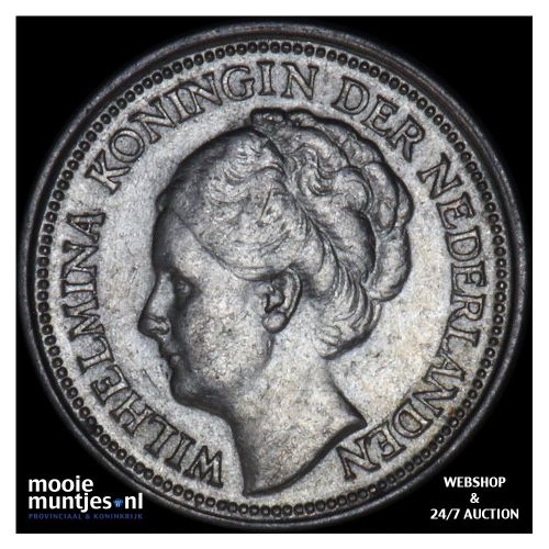 10 cent - Wilhelmina - 1936 (kant B)