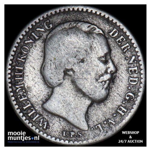 10 cent - Willem III - 1884 (kant B)