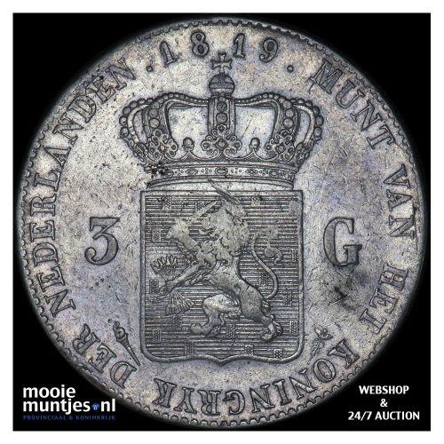 3 gulden - Willem I - 1819 Utrecht (kant A)