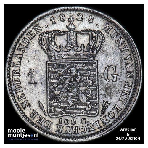 1 gulden - Willem I - 1828 Utrecht (kant A)