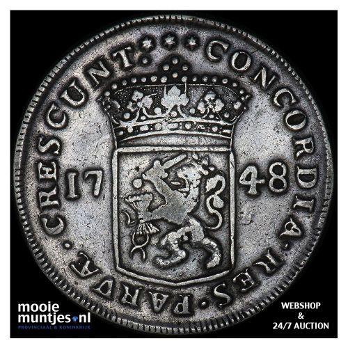 Zeeland - Zilveren dukaat - 1748 (kant A)