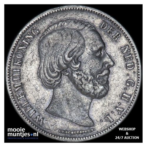 2½ gulden - Willem III - 1853 over 52 (kant B)
