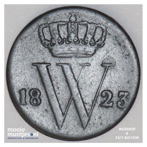 ½ cent - Willem I - 1823 Utrecht (kant A)