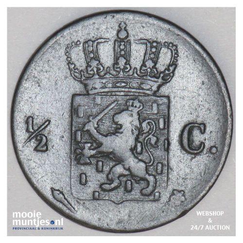 ½ cent - Willem I - 1823 Utrecht (kant B)