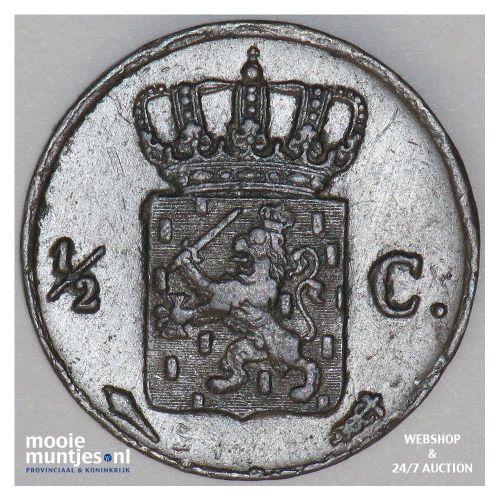 ½ cent - Willem I - 1832 (kant B)