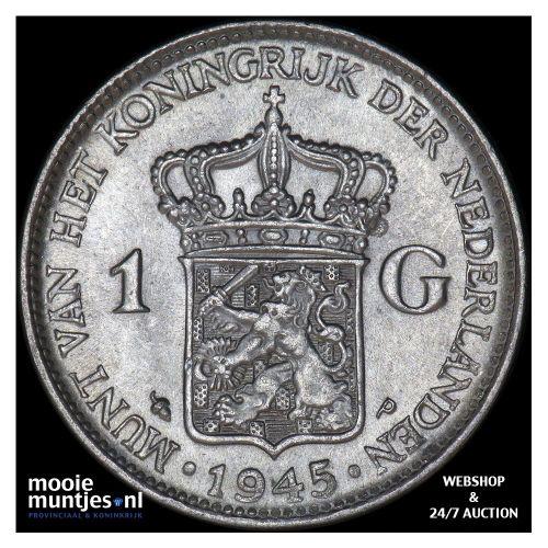 1 gulden - Wilhelmina - 1945 EP (kant A)