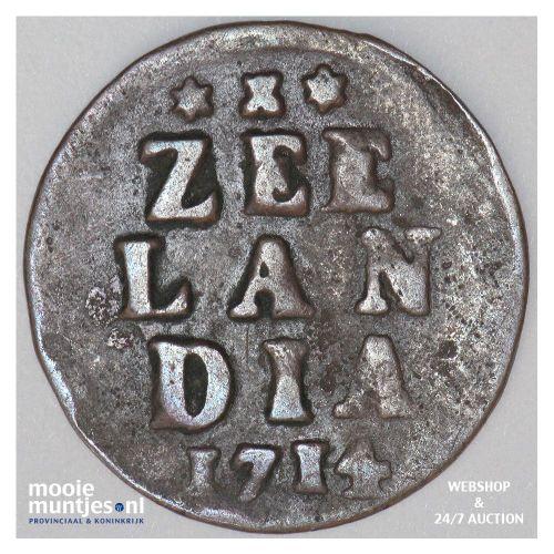 Zeeland - Duit - 1714 (kant A)