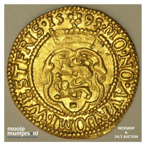 West-Friesland - Hongaarse gouden dukaat - 1595 over 93 (kant A)