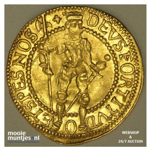 West-Friesland - Hongaarse gouden dukaat - 1595 over 93 (kant B)
