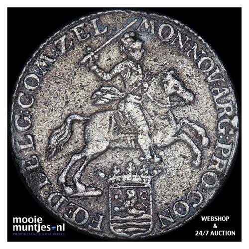 Zeeland - Zilveren rijder of dukaton - 1790 (kant B)