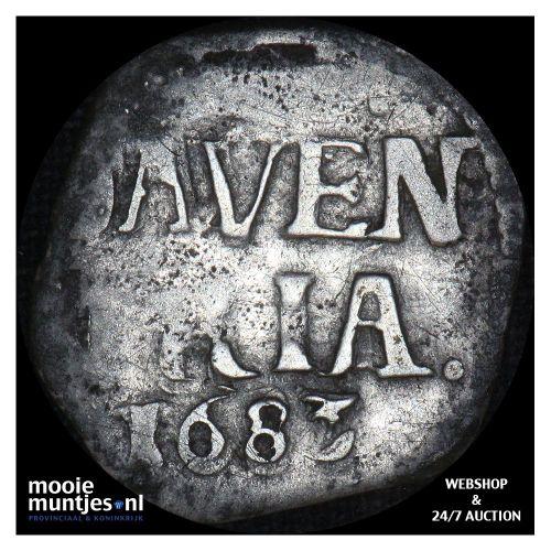 Deventer - Dubbele stuiver - 1683 (kant A)