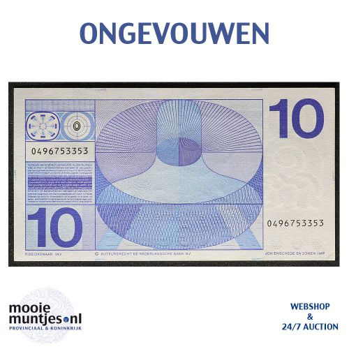 10 gulden  - 1968 (Mev. 49-1b / AV 37) (kant B)