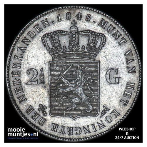 2½ gulden - Willem II - 1845 a (kant A)