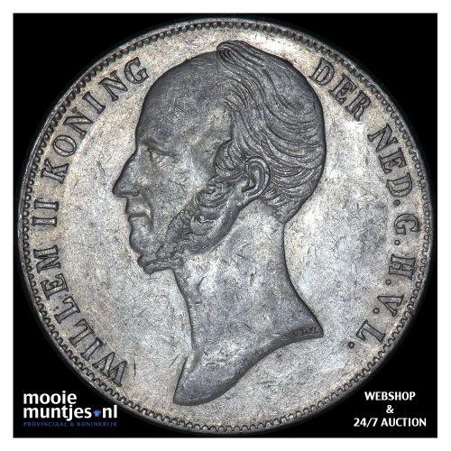 2½ gulden - Willem II - 1845 a (kant B)