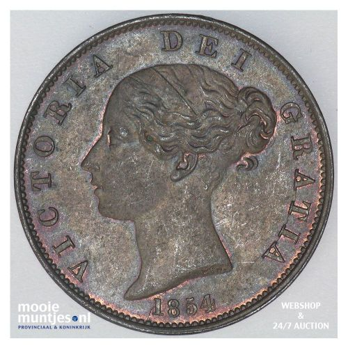 1/2 penny - Great Britain 1854 (KM 726) (kant A)