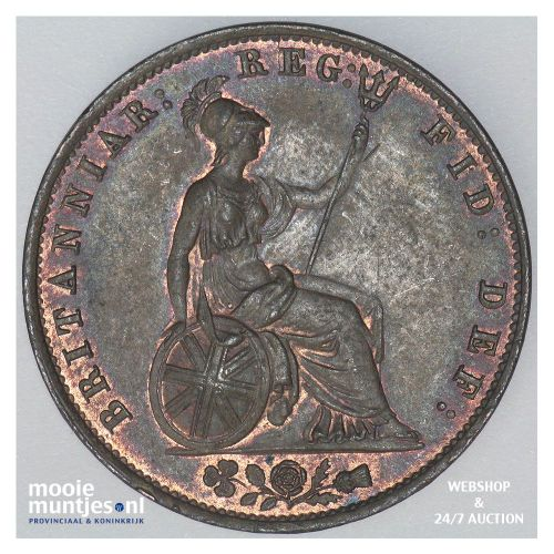 1/2 penny - Great Britain 1854 (KM 726) (kant B)