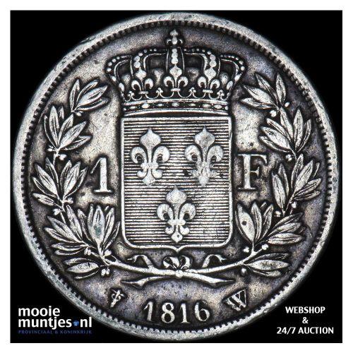 franc - France 1816 W (Lille) (KM 709.12) (kant A)