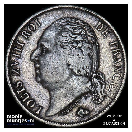 franc - France 1816 W (Lille) (KM 709.12) (kant B)