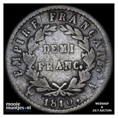 1/2 franc - France 1810 A (Paris) (KM 691.1) (kant A)