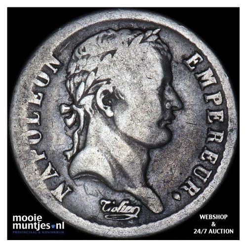 1/2 franc - France 1812 B (Rouen) (KM 691.2) (kant B)