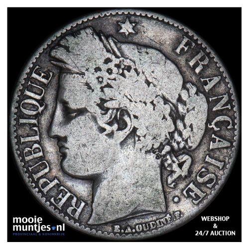 franc - France 1881 A (Paris) (KM 822.1) (kant B)