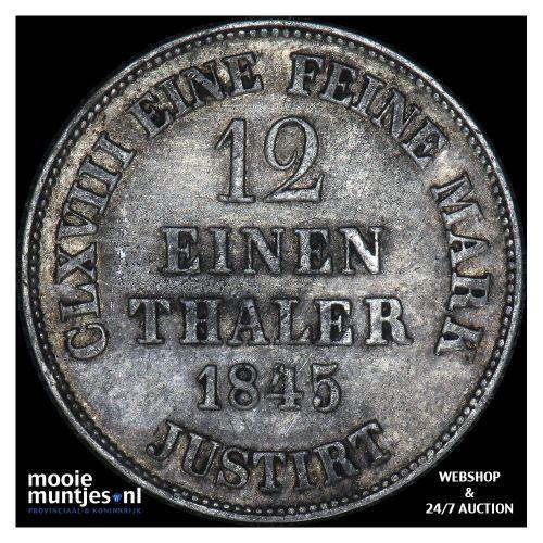 1/12 thaler (3 mariengroschen) - German States/Hannover 1845 (KM 194.2) (kant A)