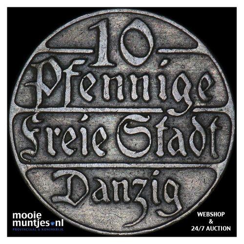 10 pfennig - Danzig 1923 (KM 143) (kant B)