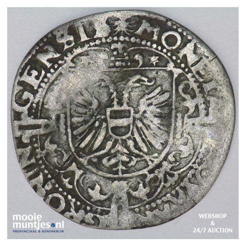 Stad Groningen - Vier stuiver of flabbe - 1599 (kant B)