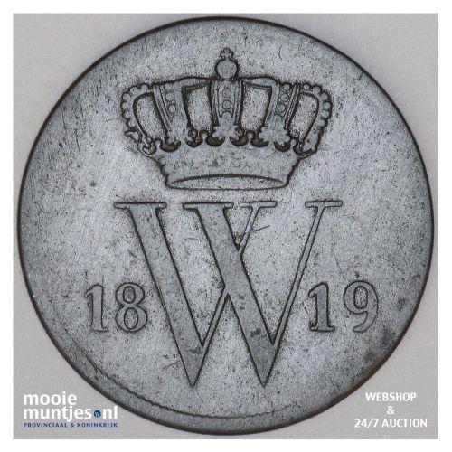 1 cent - Willem I - 1819 Utrecht (kant A)
