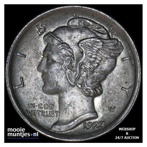 dime - mercury - United States of America 1923 (KM 140) (kant A)