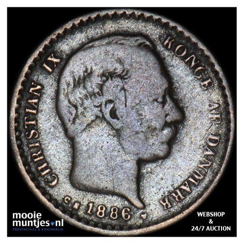 10 ore - Denmark 1886 (KM 795.1) (kant A)