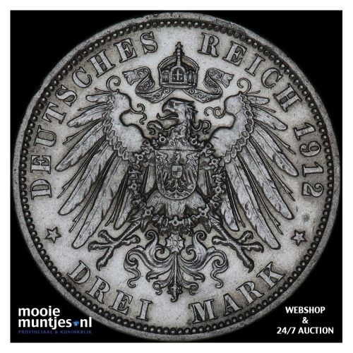 3 mark - German States/Prussia 1912 (KM 527) (kant A)